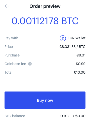 buy crypto with fiat on Coinbase