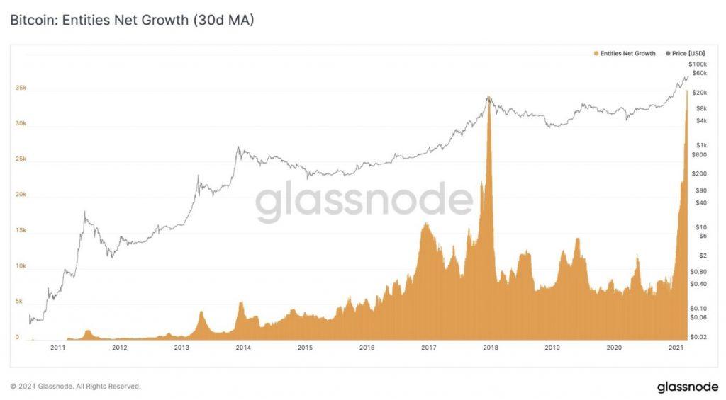 Bitcoin Entities Growth
